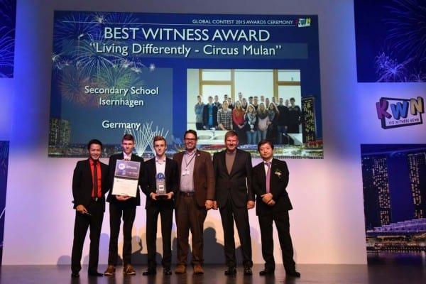 Panasonic zeichnet die Gewinner des internationalen Kid Witness News Film-Wettbewerbs 2015 aus