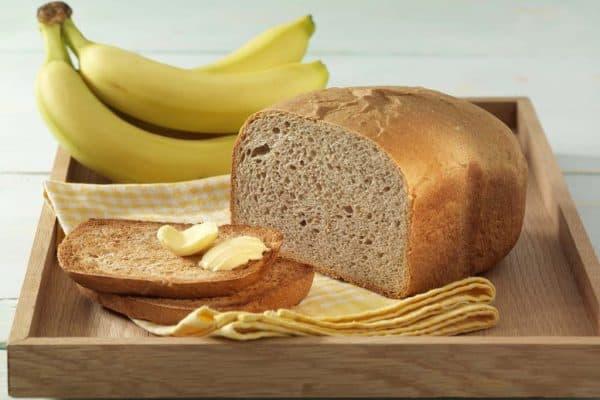 Toastbrot mit Banane