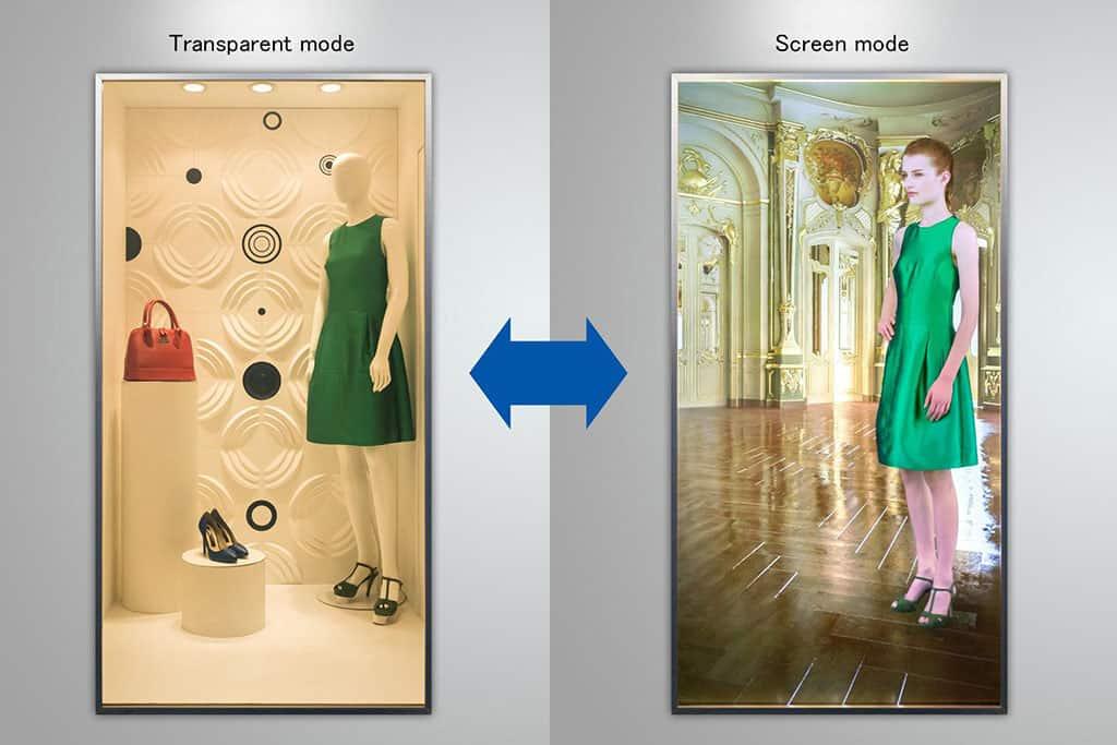 Fashion-Shop mit transparentem Schaufenster von Panasonic