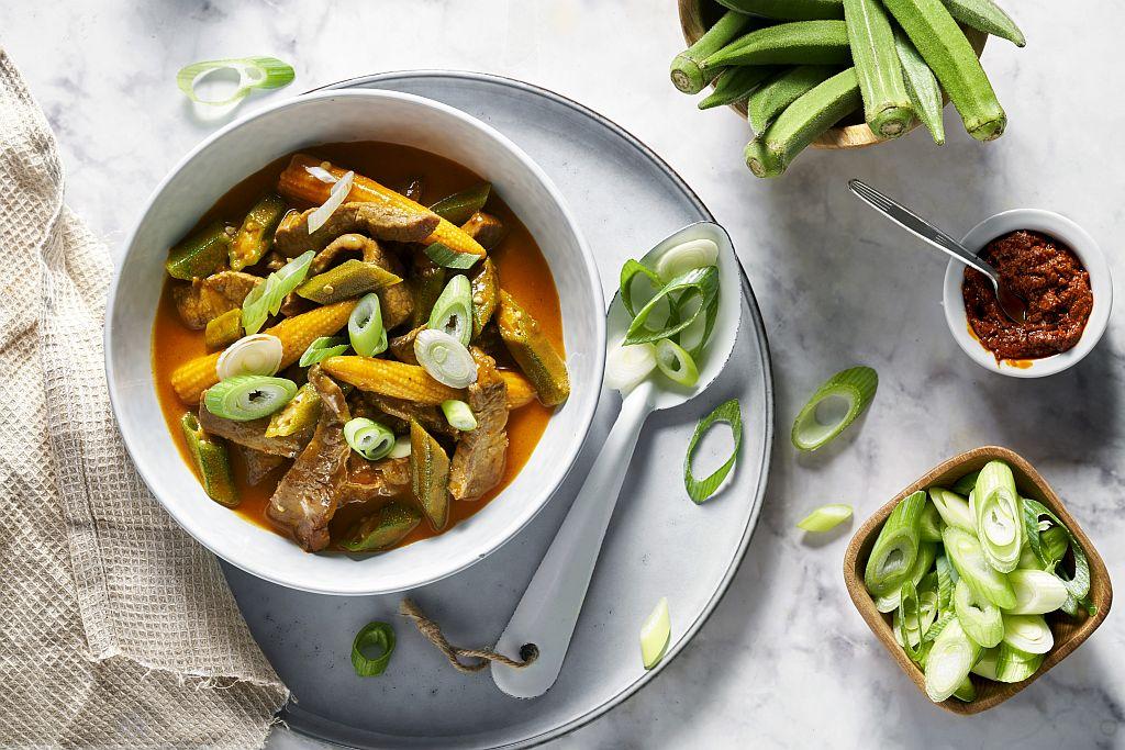 One-Pott-Rezept für Thai Beef Curry.