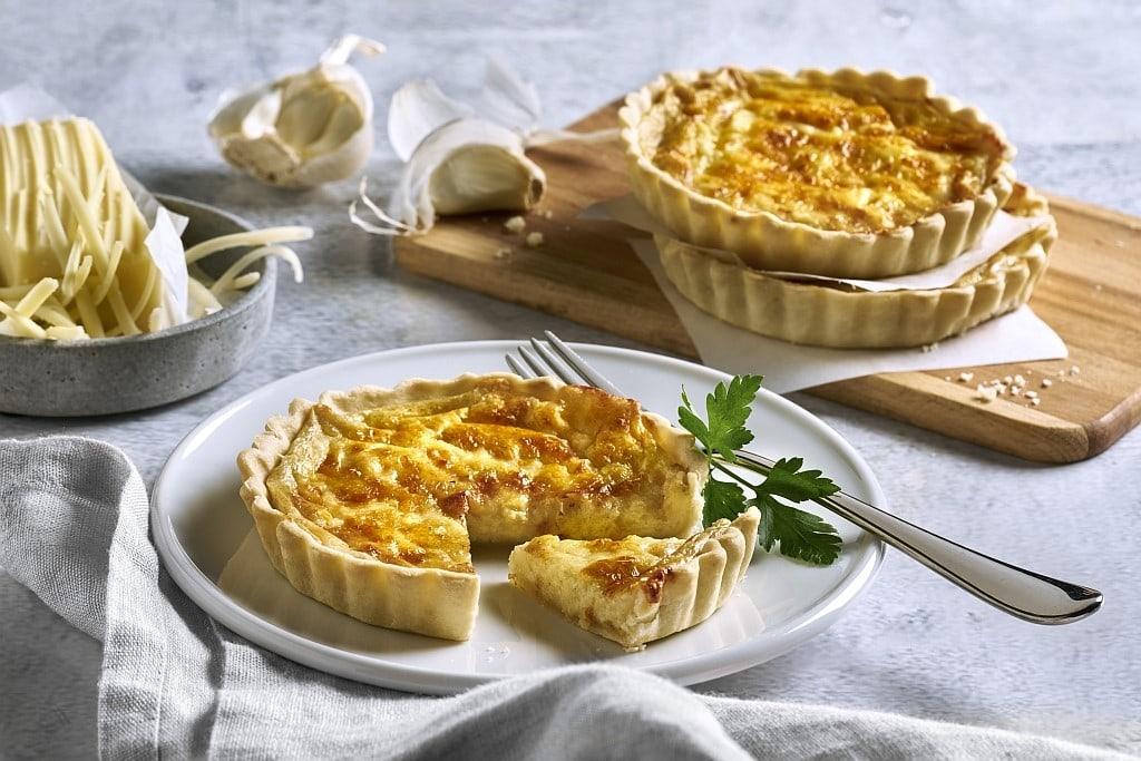 Rezept für Quiche mit Schweizer Käse.